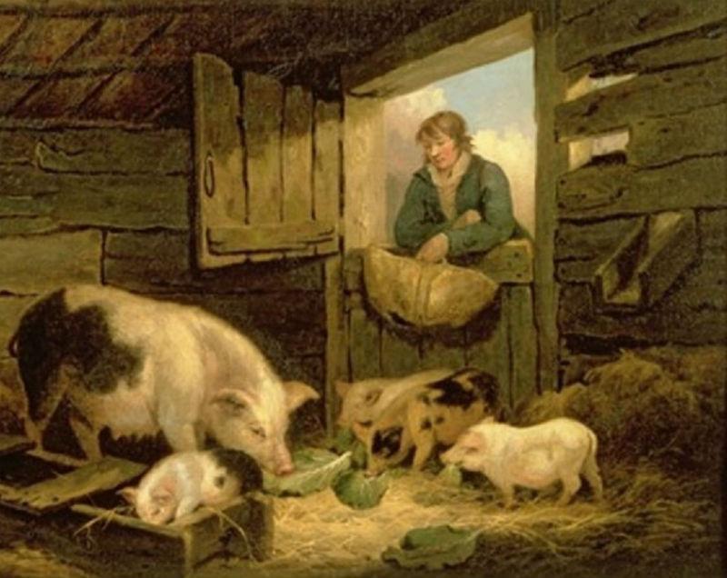 Джон Морланд - Мальчик смотрящий за свиньями.jpg