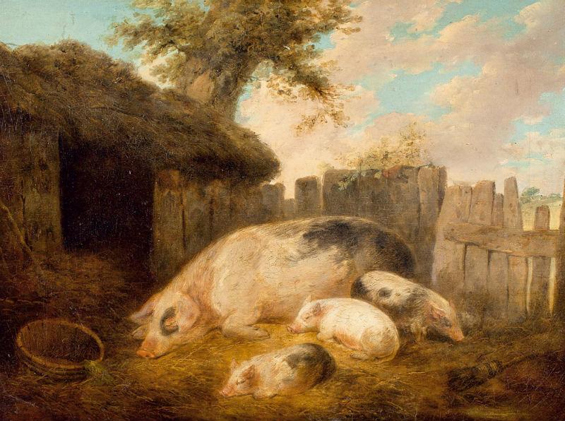 Джордж Морланд - Свинья и её выводок.jpg