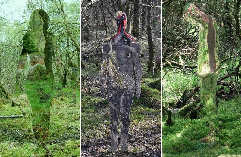 2-Роб Малхолланд, Аберфойл - Стеклянные скульптуры в шотландском лесу.jpg