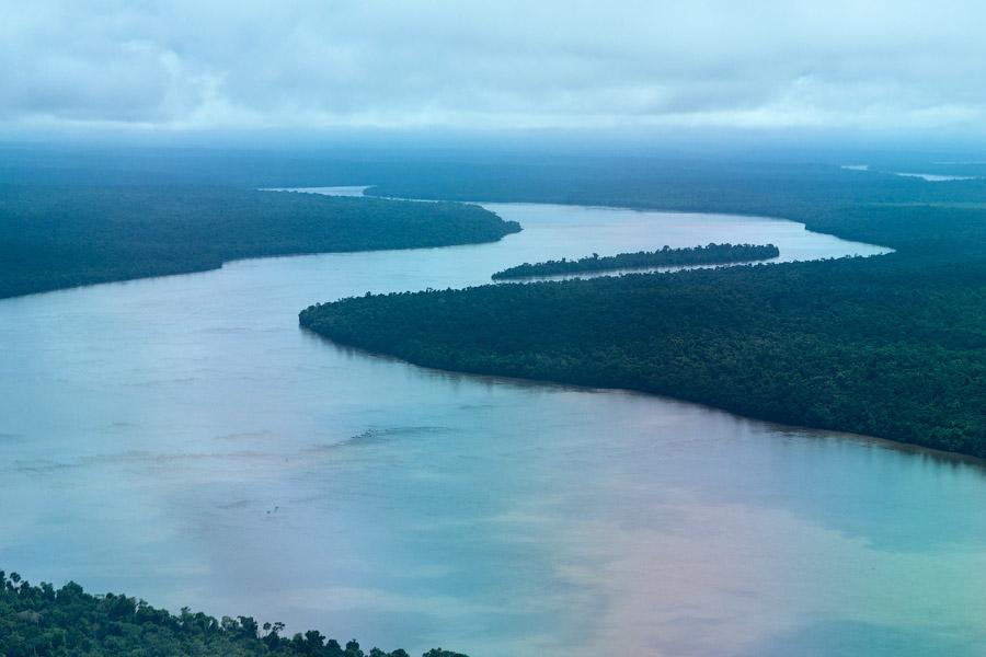 Река Игуасу с вертолета