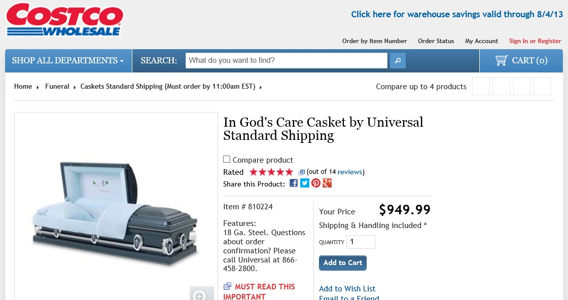 THE PENNYWISE FUNERAL SHOPPER: COSTCO CASKETS : jp1000 — LiveJournal