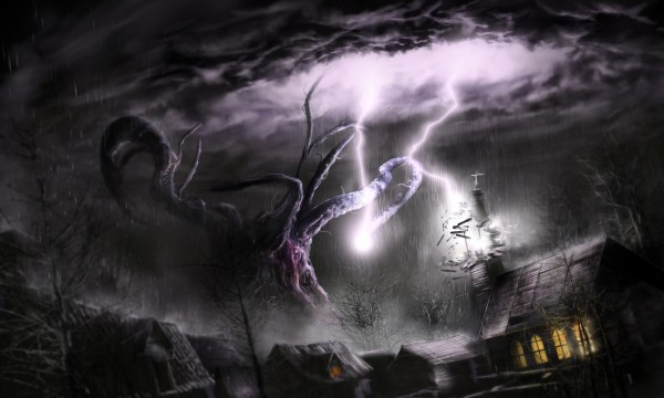 shub_niggurath_attacks_village_by_kingstantin-d7y0g77