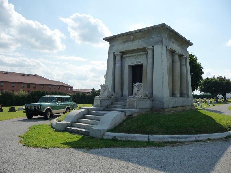 harper mausoleum - cedarville ohio