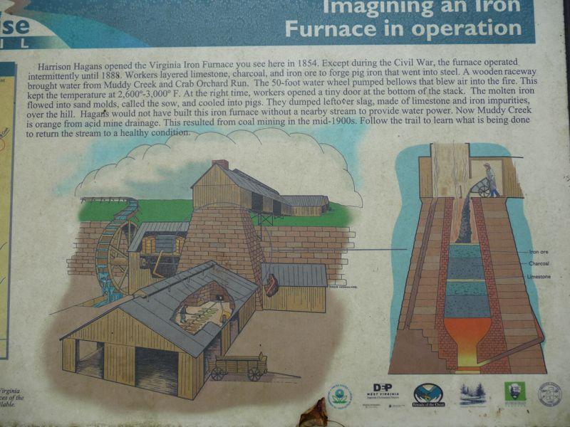 virginia iron furnace - c1847 - albright west virginia