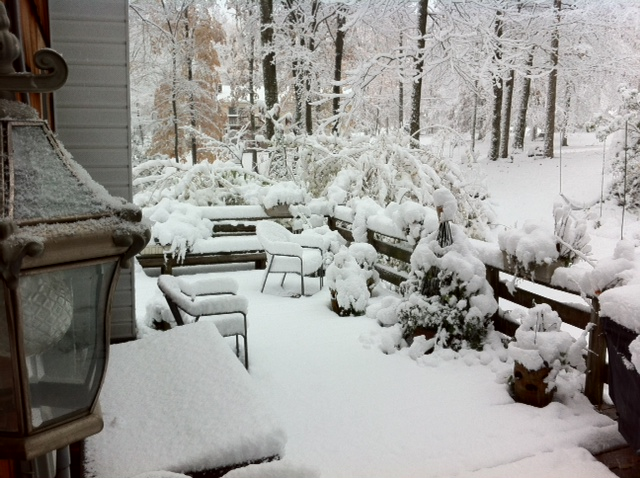first snow 29 october 2011