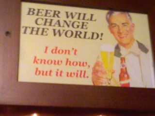 From a pub in Houston...