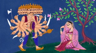 Ravana & Sita Painting