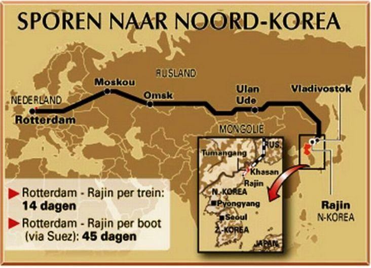 Русские в прошлом месяце открыли железную дорогу между пограничным пунктом Хасан и портовым городом Раджин в строго-коммунистической стране.