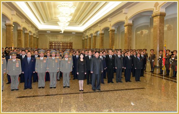 Ким Чен Ын в Кымсусанском Дворце Солнца