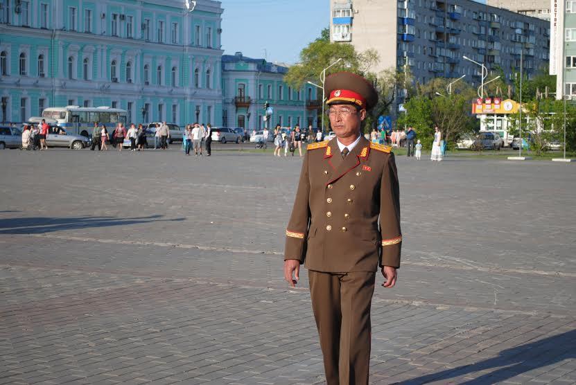 Визит военного оркестра из КНДР в г. Благовещенск