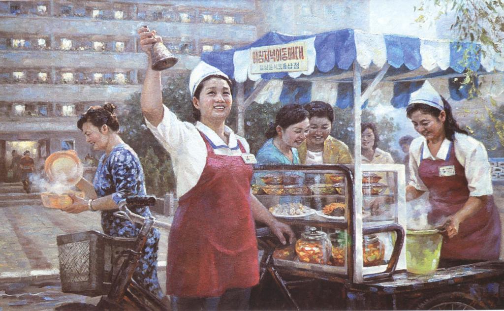 Еда на улицах Пхеньяна и других городов КНДР