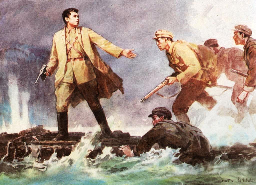 Полководец Ким Ир Сен – основатель социалистической Кореи на основе идей чучхе, идей сонгун выдвинул линию на освобождение Родины путем вооруженной борьбы, собственными силами.