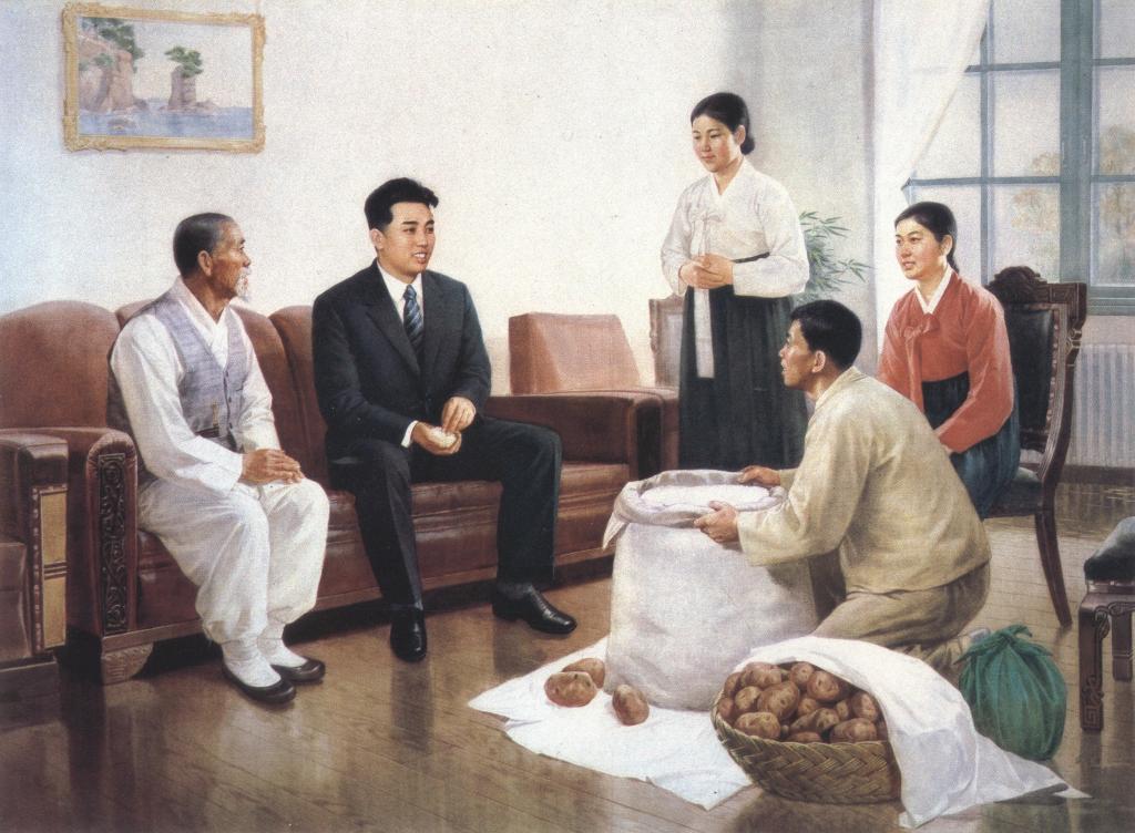 Полководец Ким Ир Сен организует сбор