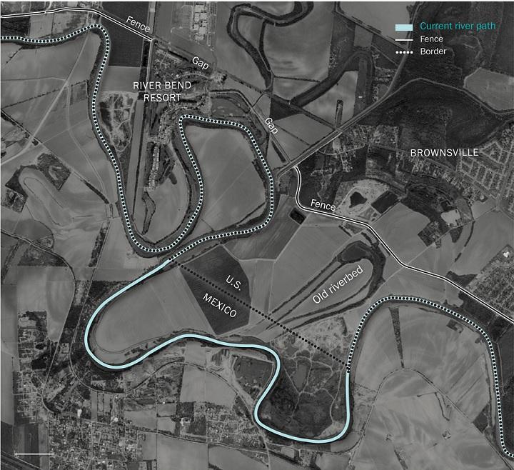 карта части реки рио гранде