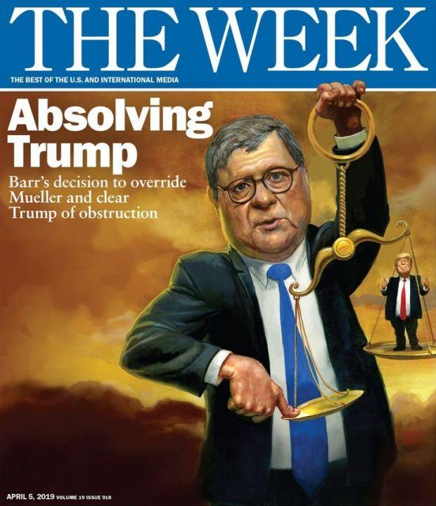 Барр положил руку на чашу весов чтобы помочь Трампу