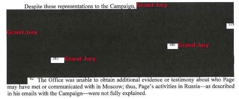 замазанная чёрной краской часть отчёта Мюллера