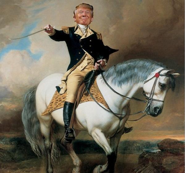 Трамп на коне