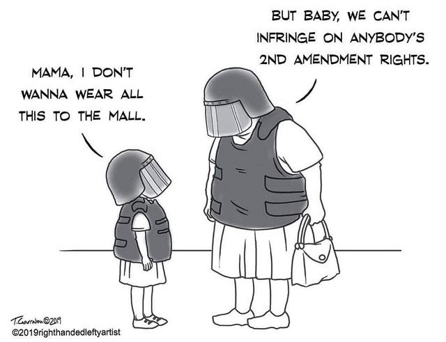 карикатура про вторую поправку к конституции