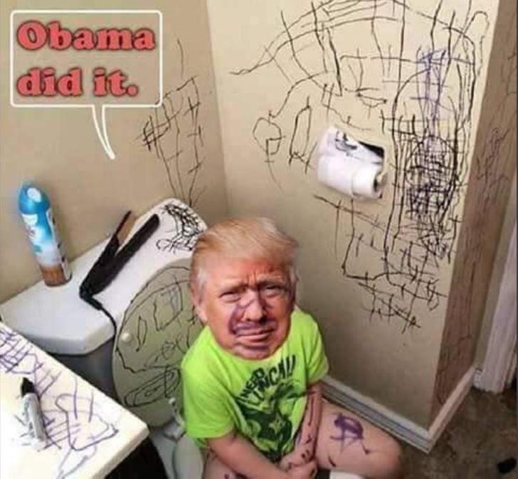 Трамп на горшке