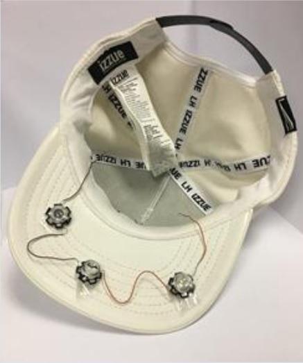 шапка с источниками инфрокрасного излучения