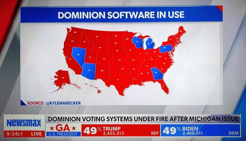 Штаты где установлен Dominion