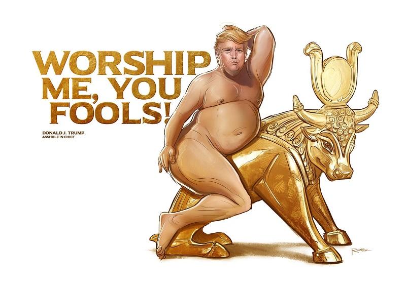 Трамп и золотой телёнок