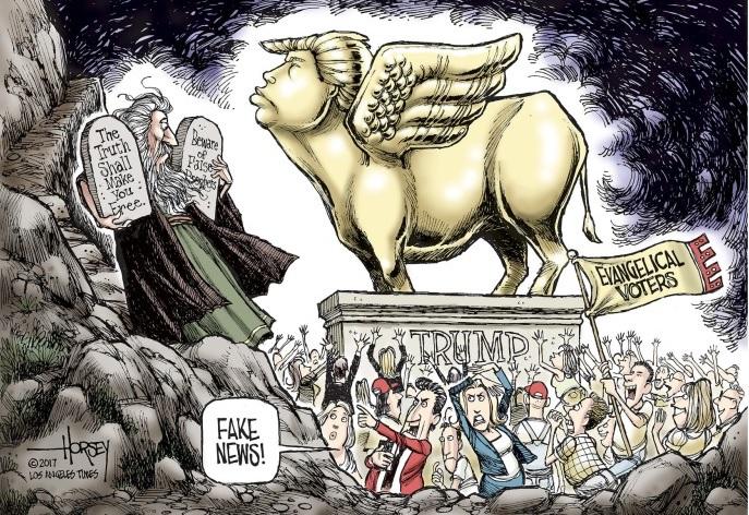 Трамп в виде золотого телёнка