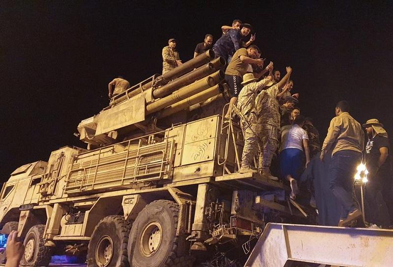Захваченный в Ливии российский панцирь