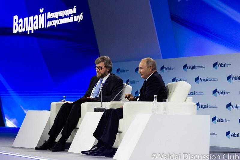 Фёдор Лукьянов с Путиным