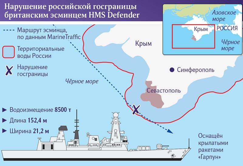 Карта маршрута британского корабля