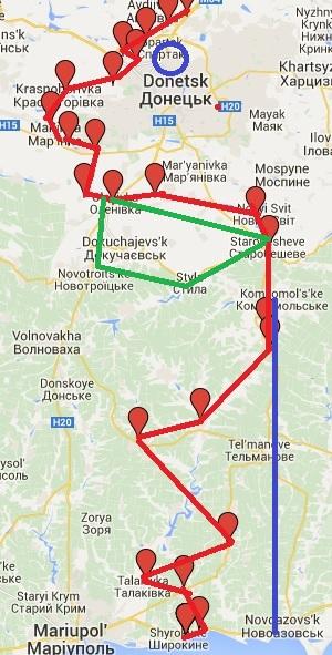 Демилитаризованная зона и зона занятая украинскими войсками