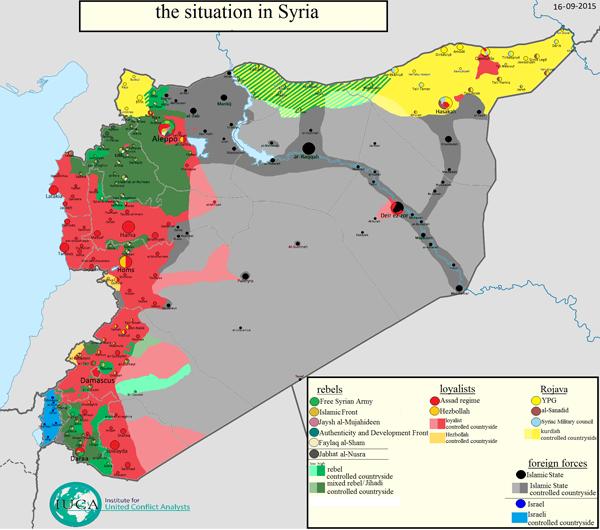 карта Сирии 16-09-2015