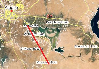карта трассы которую захватил ИГИЛ
