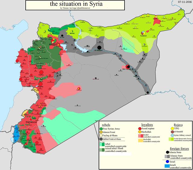 Сирия 7 ноября 2016 года