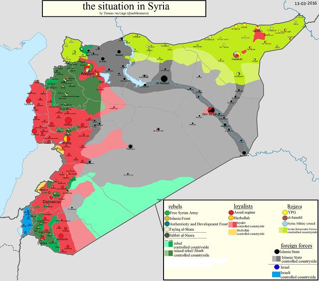Сирия 13 марта 2016