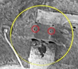 две дырки в крыше ангара пробитые Томагавками