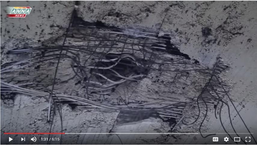 дырка в потолке ангара