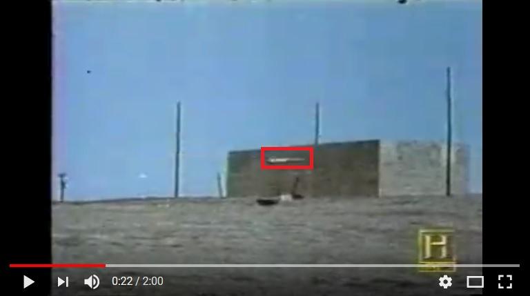 Ракета Томагавк подлетает к стене параллельно земле