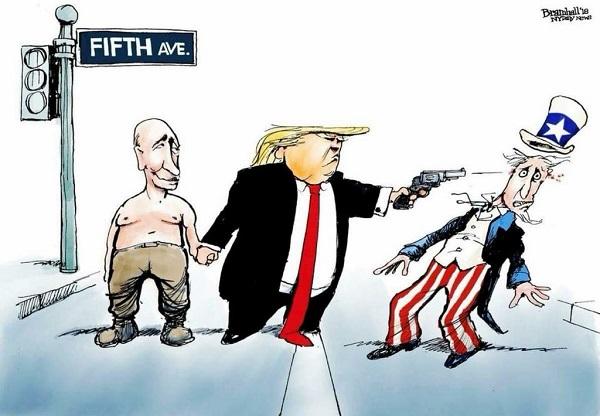 Трамп стреляет в США