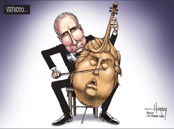 Путин играет на Трампе как на скрипке