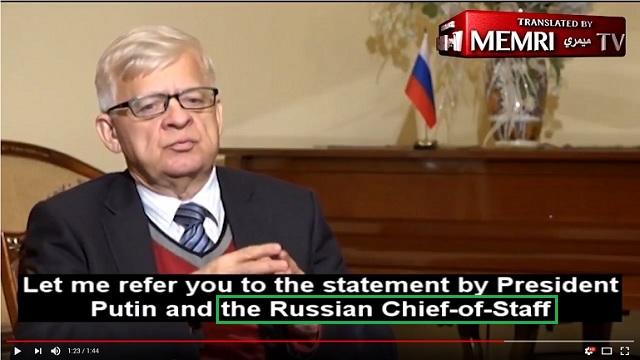 скриншот из видеозаписи интервью с послом в Ливане