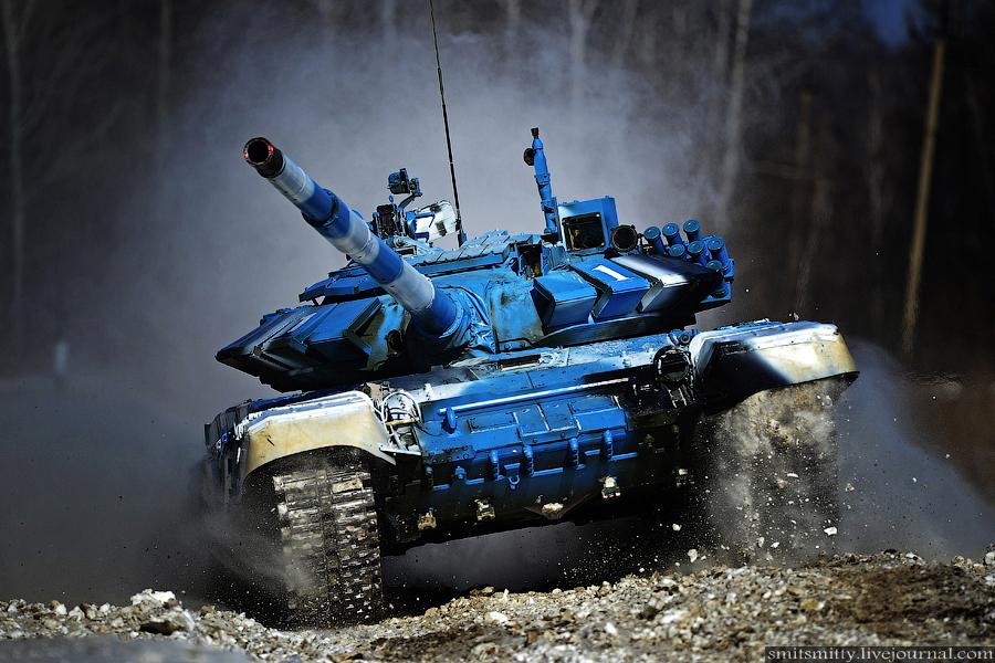 Фото с Дальневосточного этапа танкового биатлона