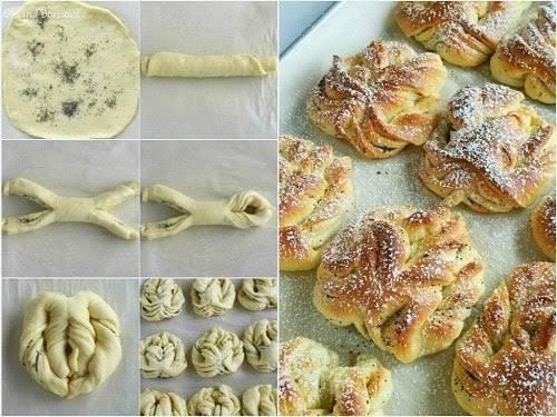 Как оформить булочки