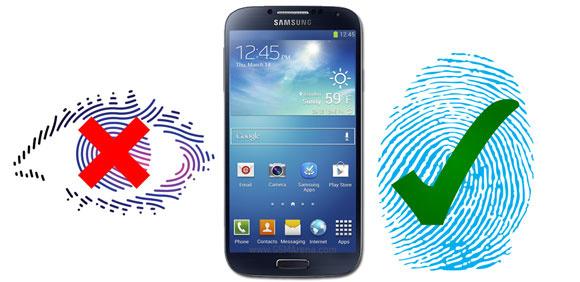 Сканер отпечатков пальцев в Samsung Galaxy S5