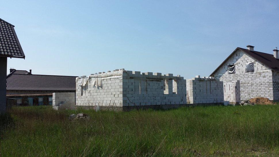 законсервированное строение из ячеистого бетона