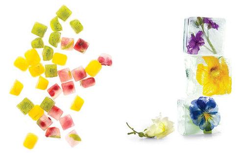 Как сделать кубики из льда с ромашкой