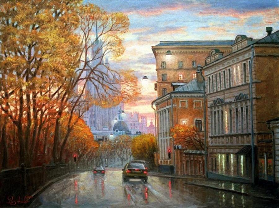 Разживин. Осенняя улица.