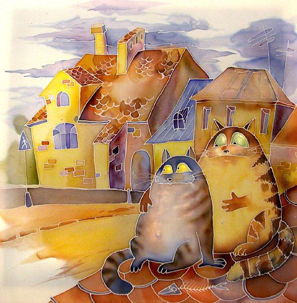коты на крыше_Мария Каминская