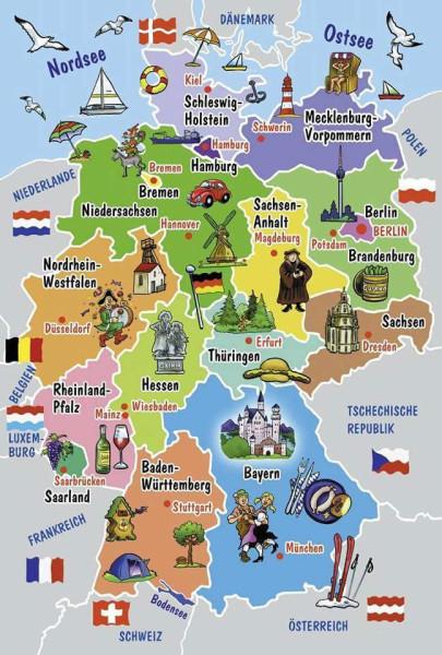 Bundeslaender karte