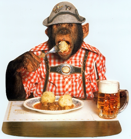 Affe betrunken